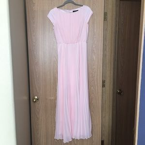 White House Black Market Pink Pleated Dress